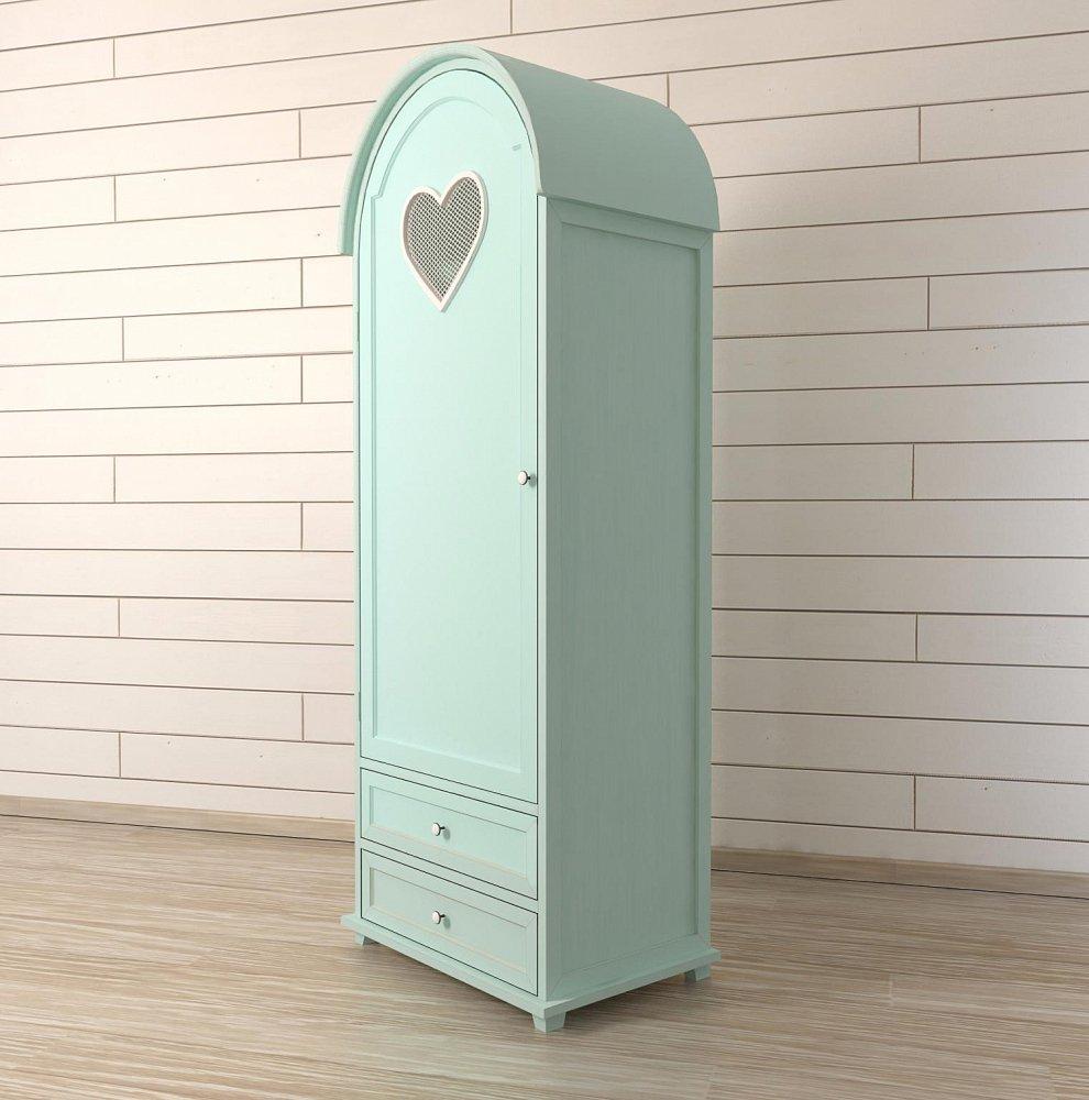 "Шкаф одностворчатый ""Adelina"" в мятном цвете"