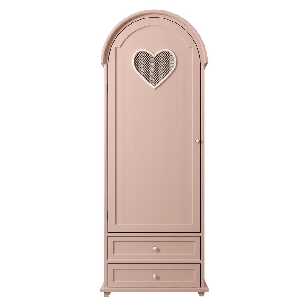 """Шкаф одностворчатый """"Adelina"""" в розовом цвете"""