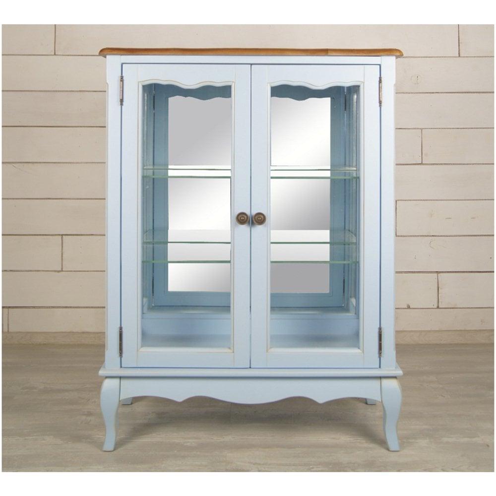 Шкаф двустворчатый Leontina для посуды голубой