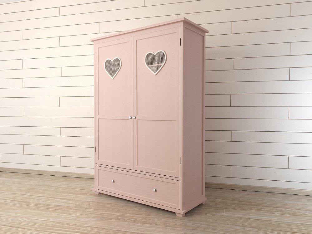 """Шкаф двустворчатый """"Adelina"""" в розовом цвете"""