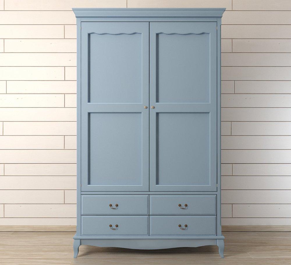 """Шкаф """"Leontina"""" двустворчатый голубой"""