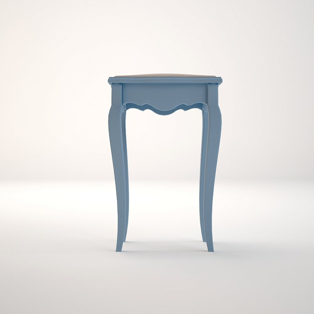 """Табурет """"Leontina"""" голубого цвета с мягким сиденьем"""