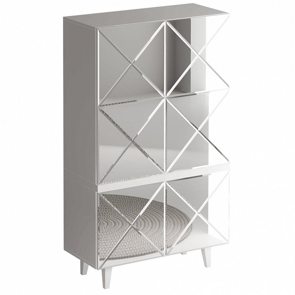 Шкаф Kristal Белый с зеркальным фасадом