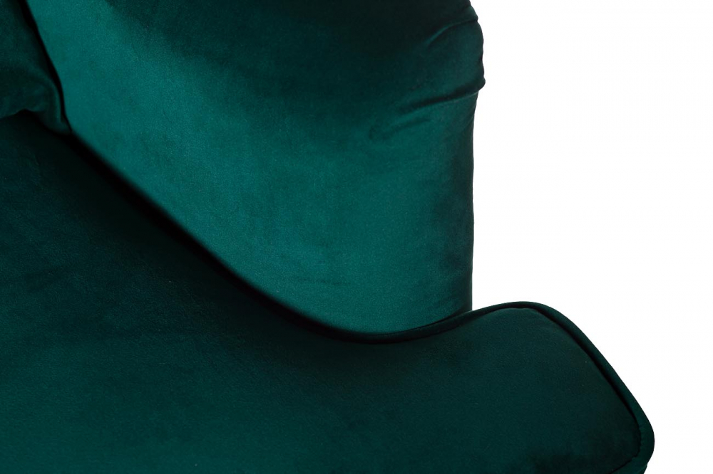 Кресло с подушкой бархат зеленый 77х92х105