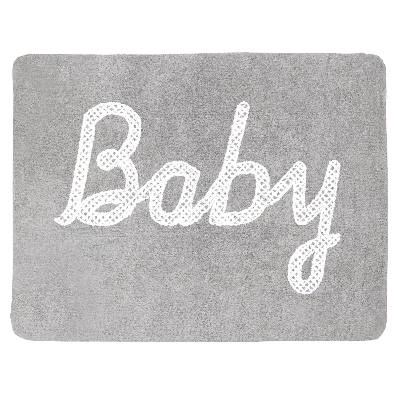 Ковер с надписью Baby серый
