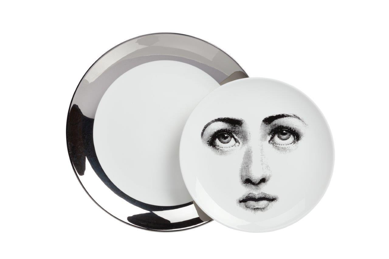 Купить Комплект тарелок Пьеро Форназетти Silver Faces в интернет магазине дизайнерской мебели и аксессуаров для дома и дачи