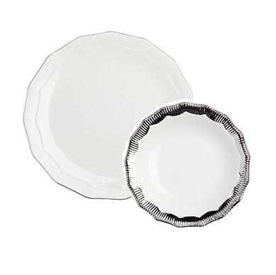 Купить Комплект тарелок Marine Hoss Silver в интернет магазине дизайнерской мебели и аксессуаров для дома и дачи