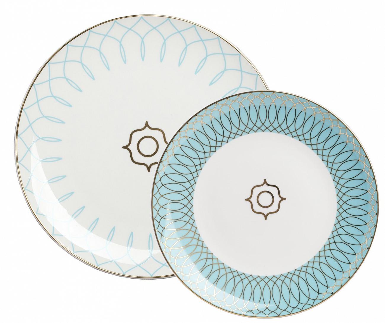 Купить Комплект тарелок Turquoise Veil в интернет магазине дизайнерской мебели и аксессуаров для дома и дачи
