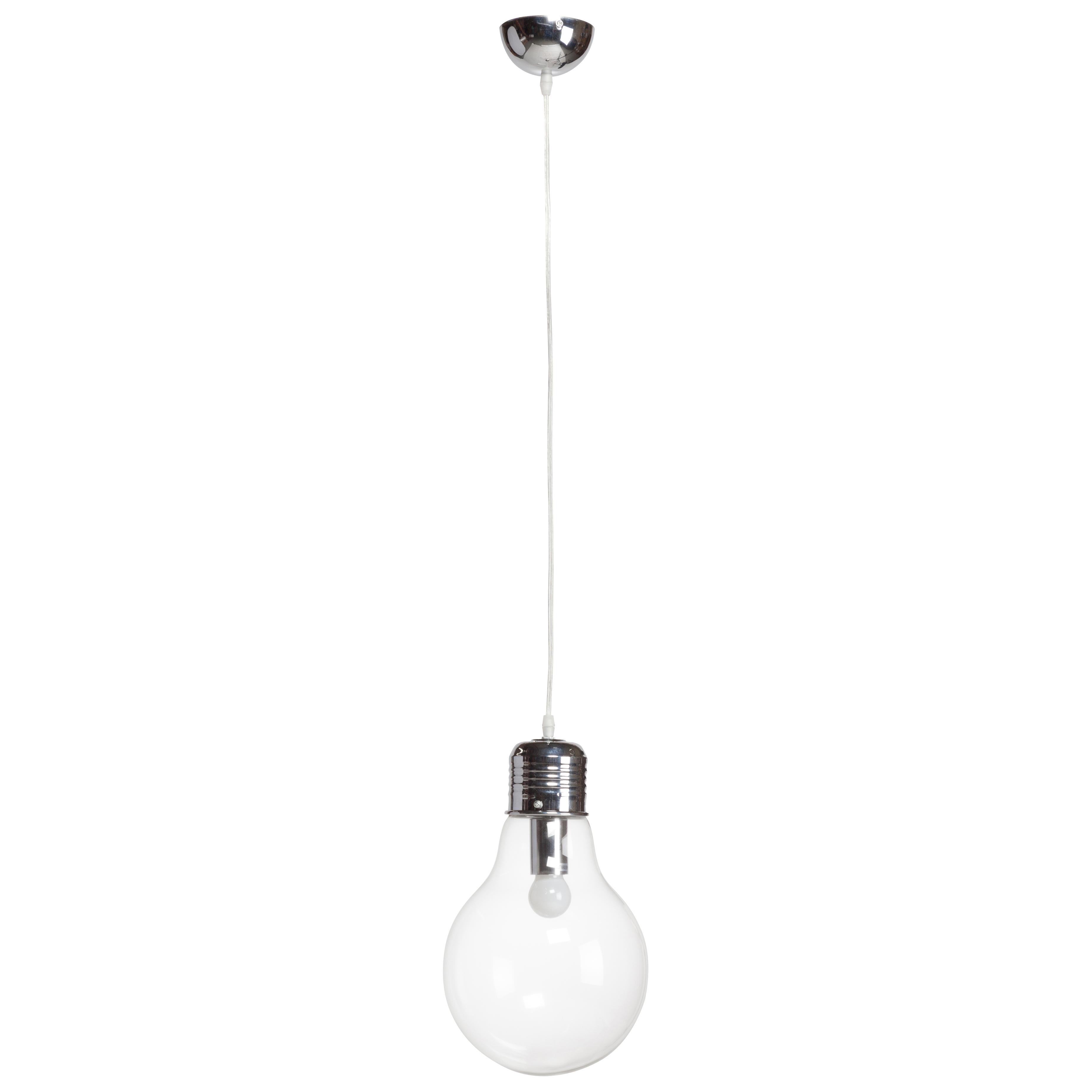 Подвесной светильник BulbПодвесные светильники<br>Алюминий, стекло. Длина провода 65 см.<br><br>Цвет: Прозрачный<br>Материал: Металл, Стекло<br>Вес кг: 0,8<br>Длина см: 20<br>Ширина см: 20<br>Высота см: 36