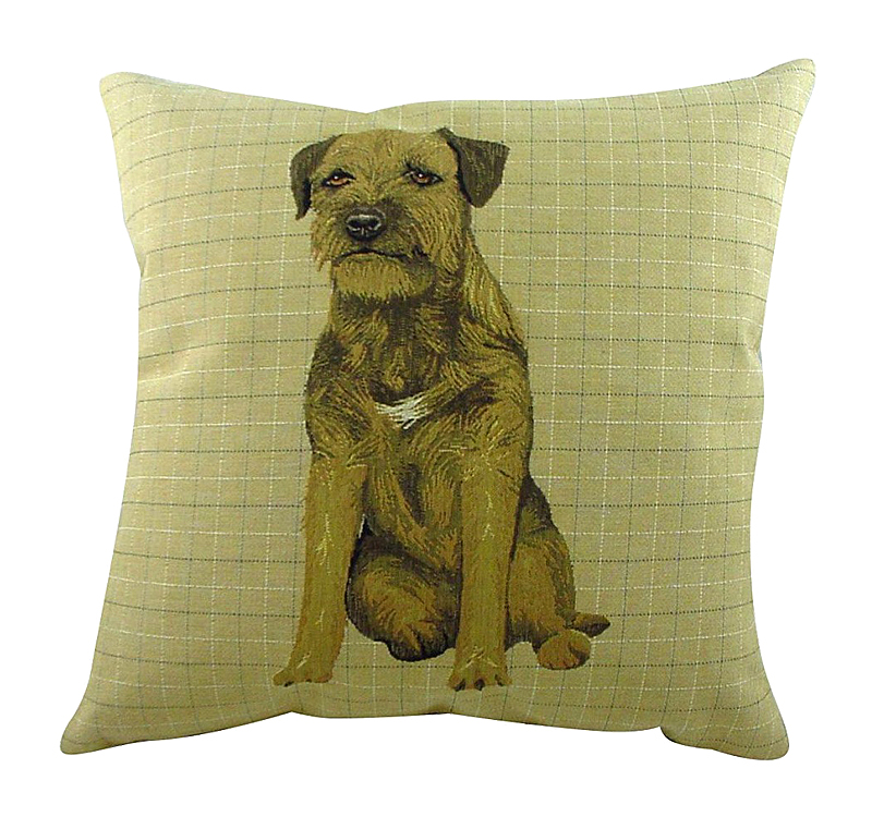Фото Подушка с фото бордер терьера Border Terrier. Купить с доставкой