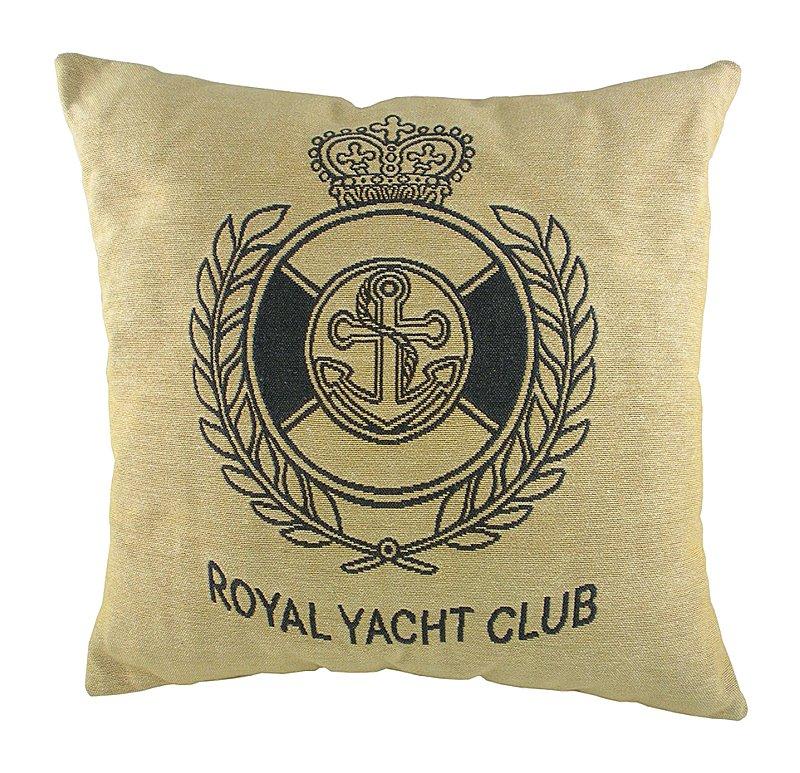 Купить Подушка с гербом Королевского Royal Yacht Club в интернет магазине дизайнерской мебели и аксессуаров для дома и дачи