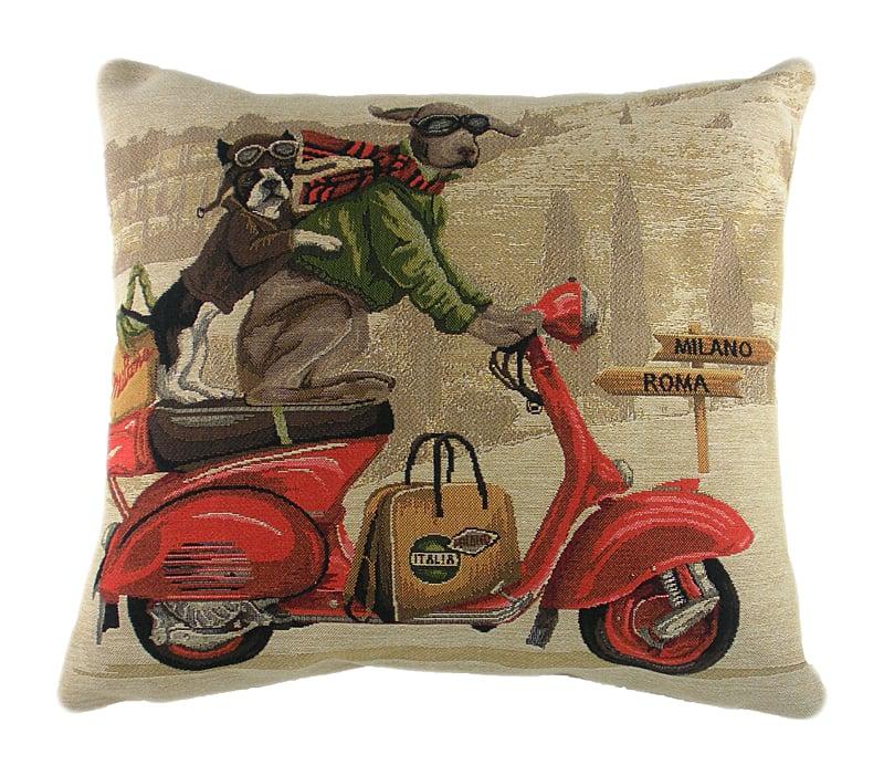 Подушка с картинкой Scooter Dogs Red elc мышка на красном скутере tb