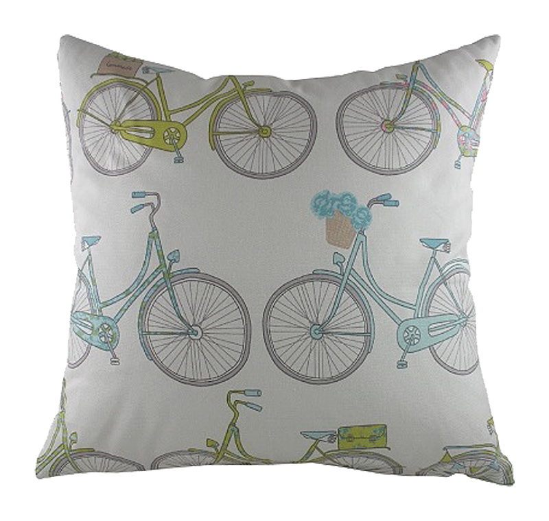 Купить Подушка с велосипедами Summersdale Teal в интернет магазине дизайнерской мебели и аксессуаров для дома и дачи