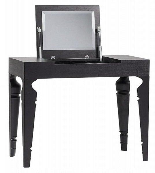 Купить Туалетный столик с зеркалом Julie Black Two в интернет магазине дизайнерской мебели и аксессуаров для дома и дачи