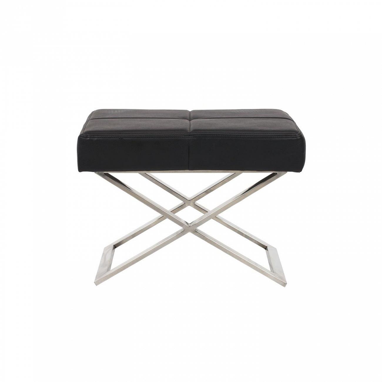 Купить Табурет Aster X Stool Черная Экокожа в интернет магазине дизайнерской мебели и аксессуаров для дома и дачи