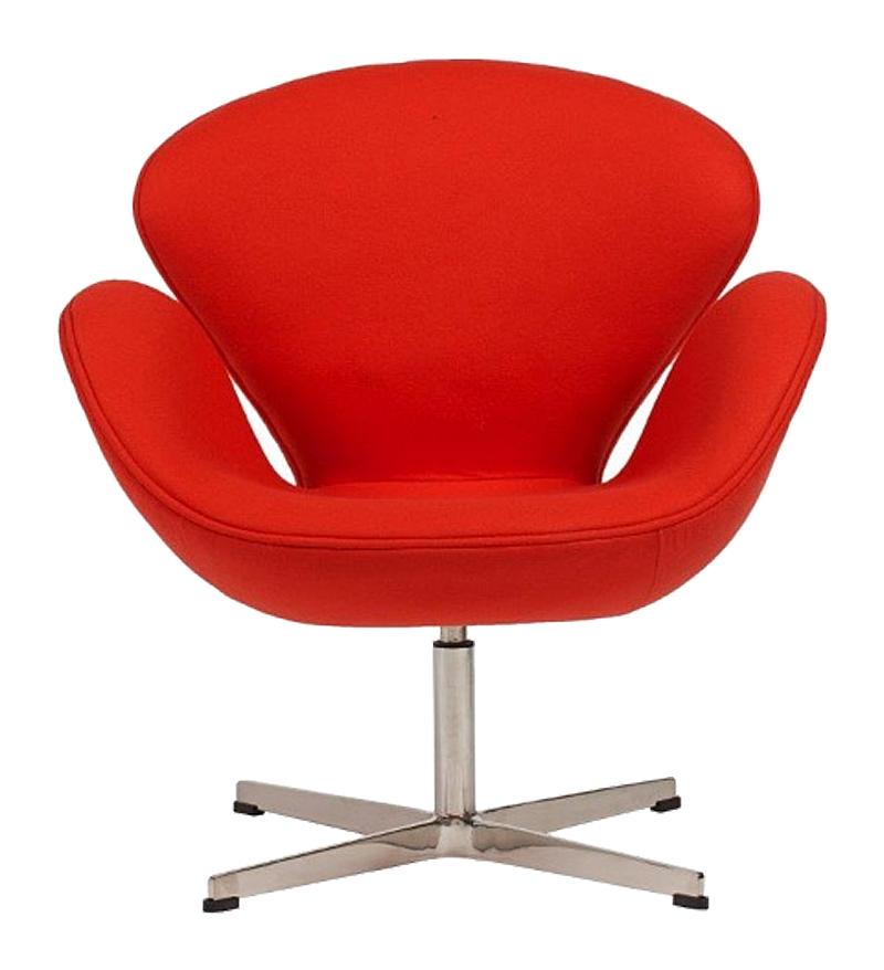 Кресло Swan Chair Красный КашемирКресла<br>Кресло Swan Chair (Лебедь), созданное датским <br>дизайнером Арне Якобсеном (Arne Jacobsen) в 1958 <br>г., стало настоящей сенсацией для своего <br>времени, было достаточно инновационным, <br>т.к. вместо прямых линий предпочтение было <br>отдано округлым формам. Мебель этого дизайнера <br>давно вошла в историю мебелестроения и <br>стало шедевром, мировым достоянием искусства. <br>Элегантная анатомическая форма и небольшие <br>размеры делают его привлекательным элементом <br>оформления любого интерьера и по сей день. <br>Небольшое, но очень уютное кресло смотрится <br>современно и украсит гостиную или рабочий <br>кабинет. Идеально сочетается с предметами <br>мебели в стиле хай-тек. Каркас кресла представляет <br>собой литую синтетическую раковину из стекловолокна, <br>покрытую пенополиуретаном. Сидение крепится <br>на вращающемся крестообразном основании <br>из нержавеющей стали. Обивка кресла сделана <br>из кашемировой ткани красного цвета. В нашем <br>магазине можно приобрести отличную реплику <br>кресла Swan Chair в нескольких вариантах обивки.<br><br>Цвет: Красный<br>Материал: Кашемир, Металл<br>Вес кг: 25<br>Длина см: 71<br>Ширина см: 70<br>Высота см: 78