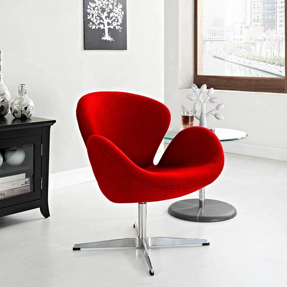 Кресло Swan Chair Красный Кашемир М