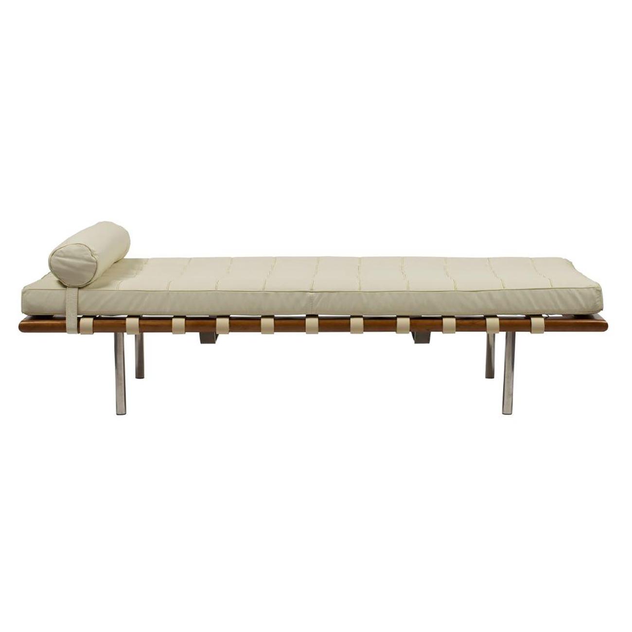 Купить Кушетка Barcelona Кремовая Кожа Премиум в интернет магазине дизайнерской мебели и аксессуаров для дома и дачи