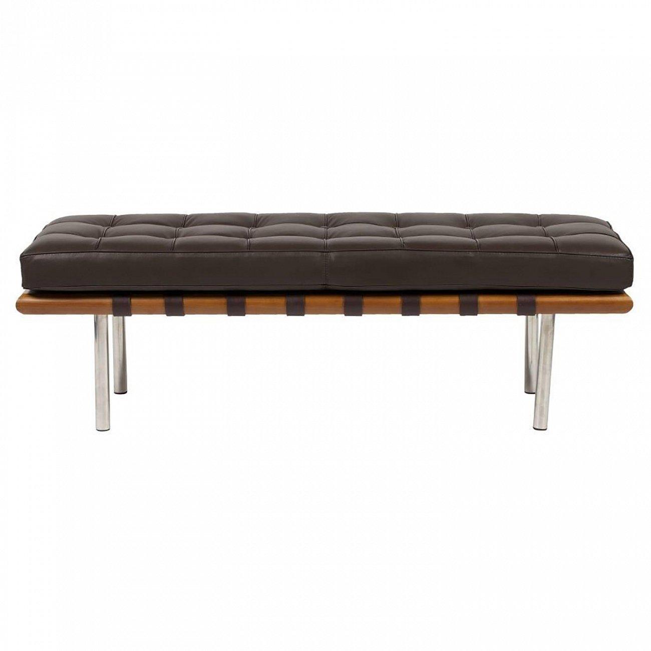 Купить Кушетка Barcelona Коричневая Кожа Премиум в интернет магазине дизайнерской мебели и аксессуаров для дома и дачи