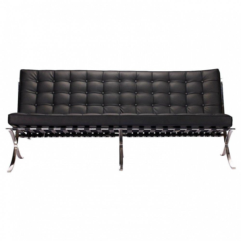 Диван Barcelona Sofa Черная Кожа Класса Премиум,  DG-F-SF304BLL от DG-home