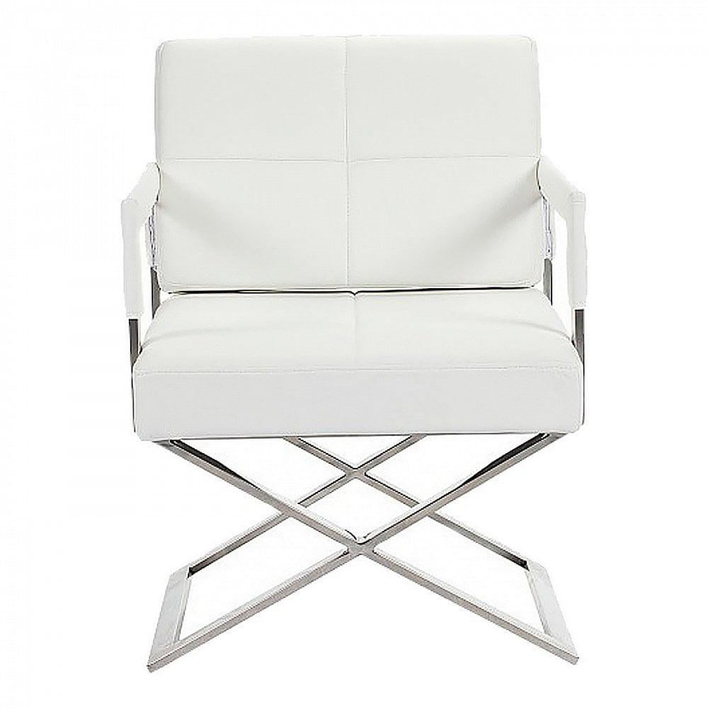 Кресло Aster X Chair Белая Кожа Класса Премиум