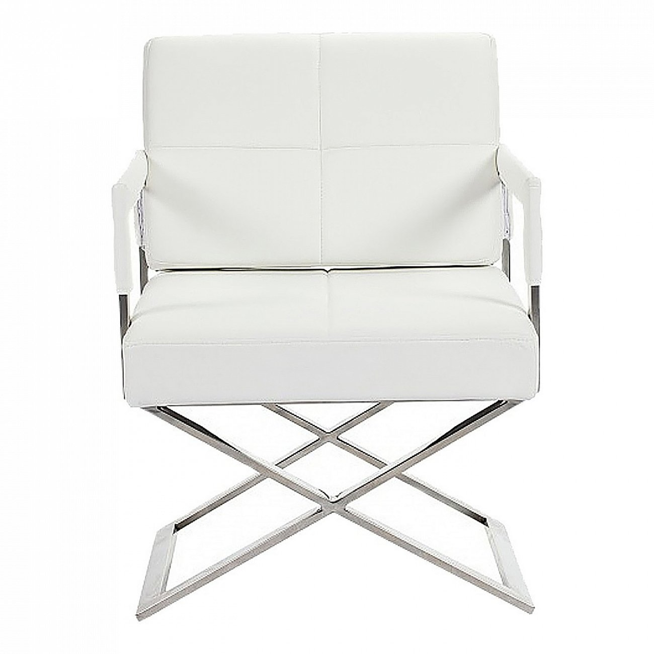 Кресло Aster X Chair Белая Кожа Класса Премиум | Кресла