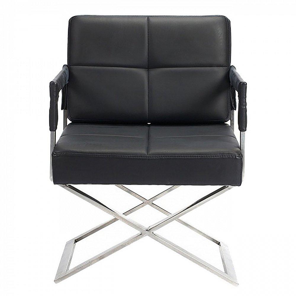 Фото Кресло Aster X Chair Черная Кожа Класса Премиум. Купить с доставкой