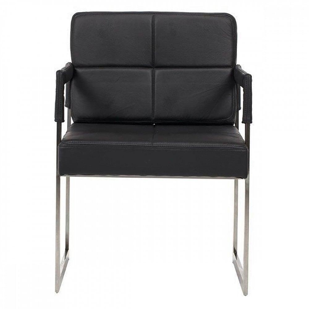 Фото Кресло Aster Chair Черная Кожа Класса Премиум. Купить с доставкой