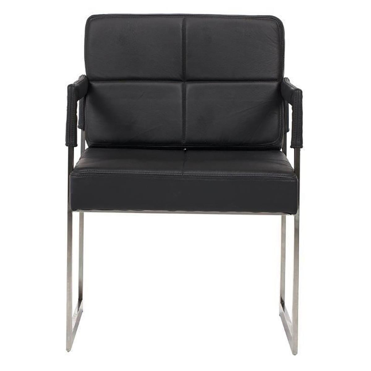 Купить Кресло Aster Chair Черная Кожа Класса Премиум в интернет магазине дизайнерской мебели и аксессуаров для дома и дачи