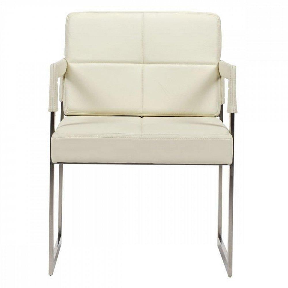 Фото Кресло Aster Chair Cream Premium Leather. Купить с доставкой
