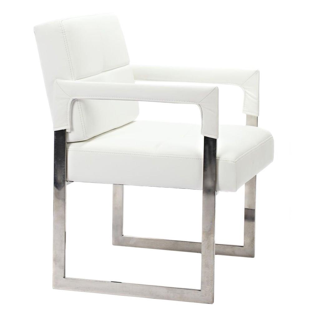 Кресло Aster Chair Белая Кожа Класса Премиум