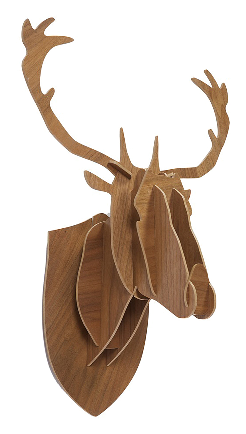 Декоративная голова оленя Brown Big
