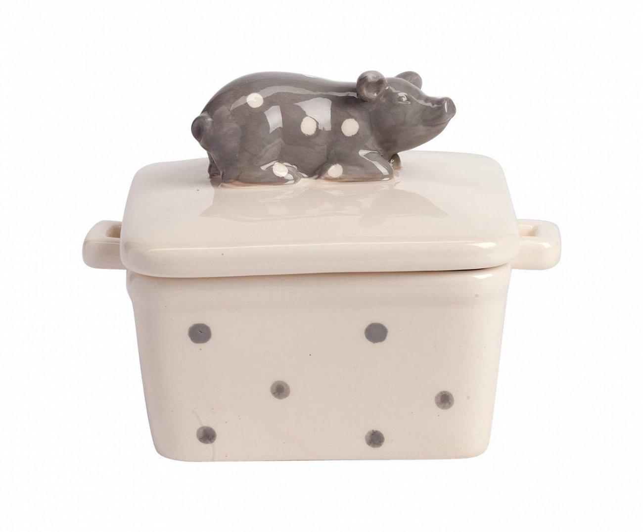 Купить Емкость для хранения с крышкой Dot Pig в интернет магазине дизайнерской мебели и аксессуаров для дома и дачи