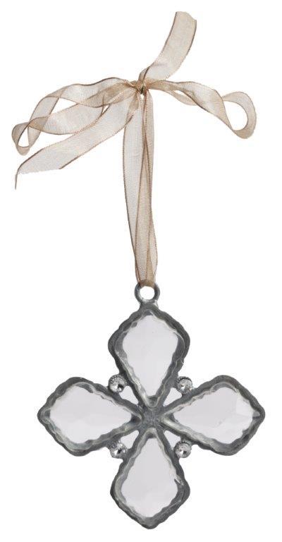 Подвесное украшение на атласной ленте Сristallo Quattro, DG-D-631B