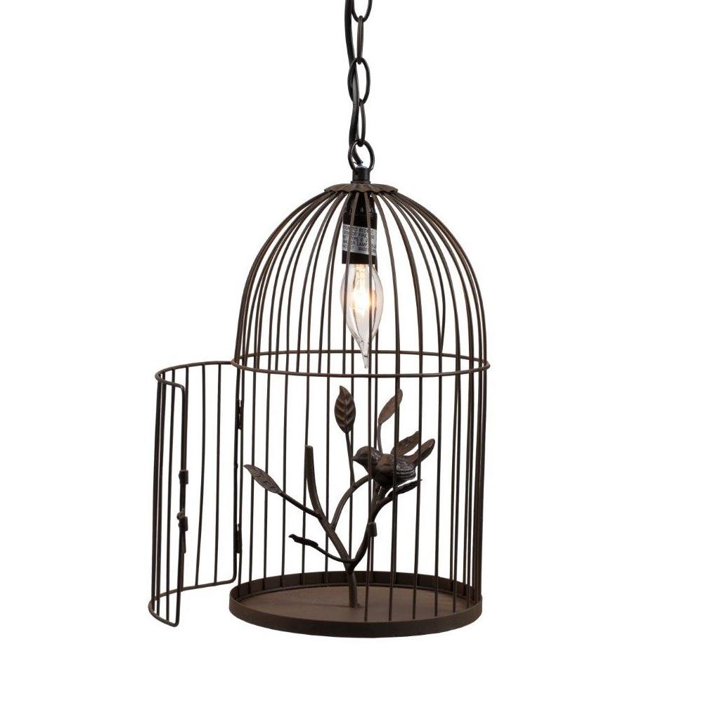 Декоративная люстра-клетка GabbiaЛюстры<br>Люстра в виде клетки для птиц — оригинальное <br>решение для современного интерьера. Утонченная <br>люстра-клетка Gabbia — необычное и стильное <br>украшение. Она оснащена всего одной лампочкой, <br>однако этого достаточно для небольшого <br>помещения. Чтобы сделать свет не таким ярким, <br>люстру можно покрывать полупрозрачной <br>тканью, как покрывают клетки птиц. Люстра <br>крепится к потолку на довольно длинной <br>цепи, при желании ее можно сделать короче. <br>Такую люстру можно повесить в помещении <br>в загородном доме, в летней кухне, на веранде, <br>крытой террасе, в спальне, в детской, в общем <br>везде, где этот светильник будет не только <br>источником света, но и украшением. Лампочка <br>не включена в комплект.<br><br>Цвет: Коричневый<br>Материал: Металл<br>Вес кг: 1,2<br>Длина см: 20<br>Ширина см: 20<br>Высота см: 37