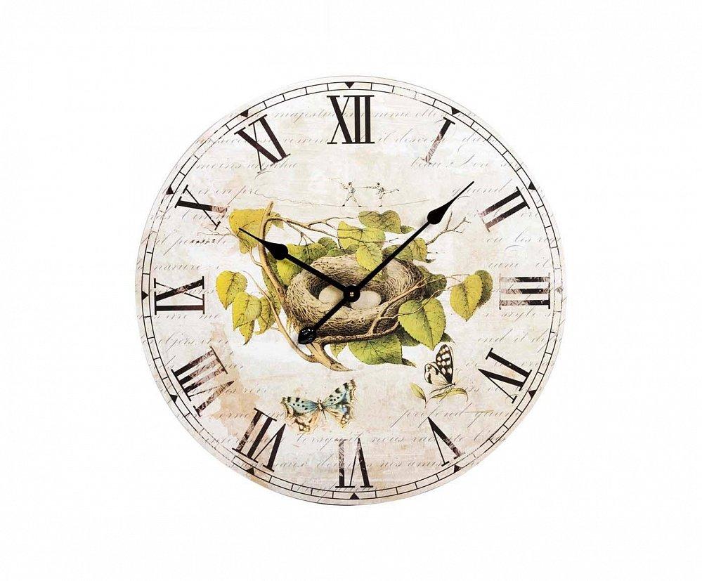 Настенные часы CuisineЧасы<br>Настенные часы Cuisine — это изысканный элемент <br>декора в стиле Прованс. Приятные пастельные <br>тона, растительные мотивы, милые бабочки <br>и птичье гнездо, винтажный вид — все это <br>позволяет аксессуару удачно гармонировать <br>с общей картиной помещения, наполняя его <br>деревенским очарованием и шармом. Такие <br>часы несомненно станут замечательным украшением <br>вашего «гнездышка» или же прекрасным подарком <br>близкому человеку.<br><br>Цвет: Разноцветный<br>Материал: МДФ<br>Вес кг: 3,3<br>Длина см: 60<br>Ширина см: 60<br>Высота см: 3