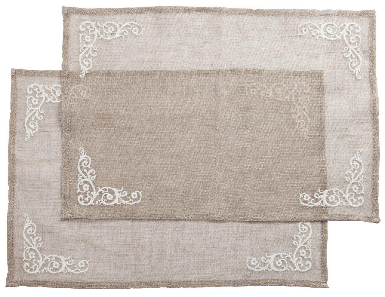 Купить Набор из 2 сервировочных салфеток с вышивкой Ternura в интернет магазине дизайнерской мебели и аксессуаров для дома и дачи