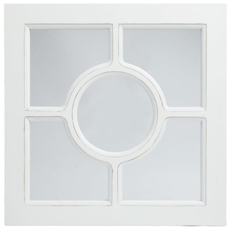 Зеркало в раме CerchioЗеркала<br>Квадратное зеркало в раме Cerchio благодаря <br>своему оригинальному оформлению напоминает <br>окошко на чердаке в провинциальном французском <br>домике. Это придает ему еще больше очарования <br>и изысканности. Предмет декора имеет небольшие <br>размеры, однако удачно впишется как в уютную <br>спальню, так и в просторную гостиную. Белый <br>цвет рамы превосходно будет сочетаться <br>с пастельными тонами ваших стен.<br><br>Цвет: Белый, Зеркальный<br>Материал: Зеркало, МДФ<br>Вес кг: 2<br>Длина см: 40<br>Ширина см: 2<br>Высота см: 40