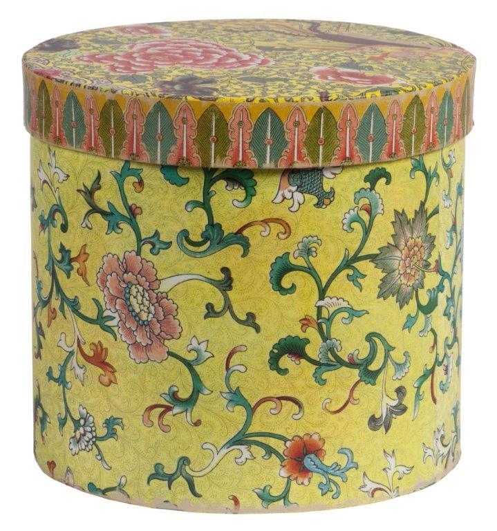 Купить Декоративная коробка с цветами желтая Flor в интернет магазине дизайнерской мебели и аксессуаров для дома и дачи