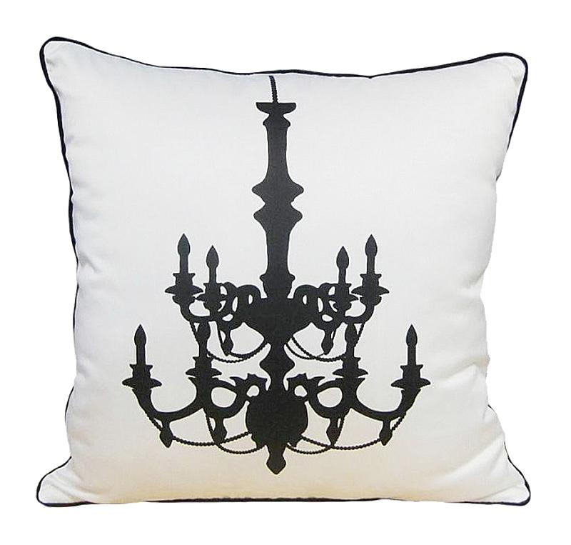 Купить Подушка с рисунком канделябра Chandelier White в интернет магазине дизайнерской мебели и аксессуаров для дома и дачи