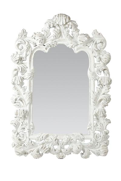 Зеркало Marilyn, DG-D-MR05  Зеркало Marilyn — это сказочно-красивый элемент  декора. Полиуретановая рама зеркала декорирована  рельефной резьбой белого цвета, подойдёт  для любого стиля интерьера.
