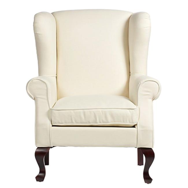 Кресло SohoКресла<br>Большое и мягкое кресло Soho подарит вам <br>ощущение максимального комфорта. В нем <br>вы почувствуете себя по-настоящему как <br>дома, расслабленно и уютно. Кресло по форме <br>напоминает королевский трон, оно смотрится <br>внушительно и в то же время не утяжеляет <br>интерьер. Обивка кресла из белого льна, <br>а фигурные ножки сделаны из темного дерева. <br>В таком кресле здорово сидеть перед камином, <br>пить чай и вести неспешные беседы.<br><br>Цвет: Молочный<br>Материал: Дерево, Поролон, Ткань<br>Вес кг: 17<br>Длина см: 77<br>Ширина см: 75<br>Высота см: 111