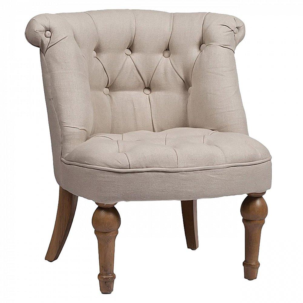Кресло Sophie Tufted Slipper Chair Бежевый Лен