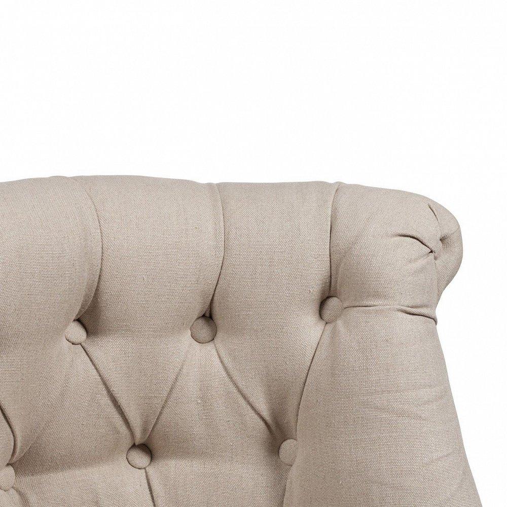 Кресло Sophie Tufted Slipper Chair Бежевый Лен М