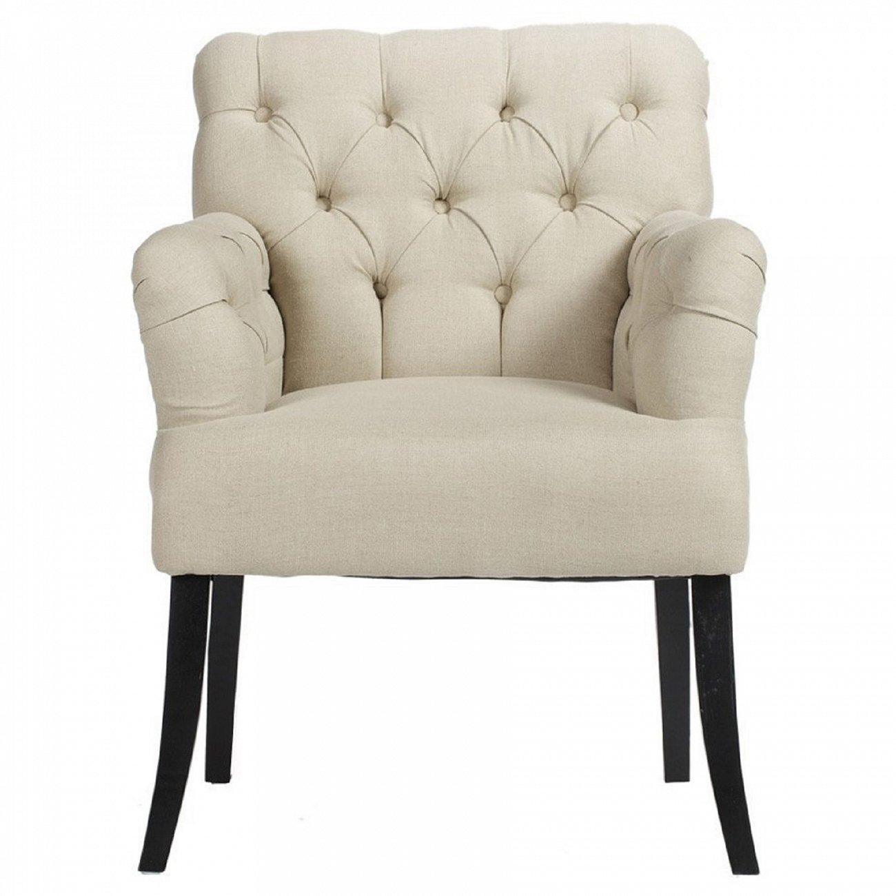 Купить Кресло Castro Armchair Белый Лен в интернет магазине дизайнерской мебели и аксессуаров для дома и дачи