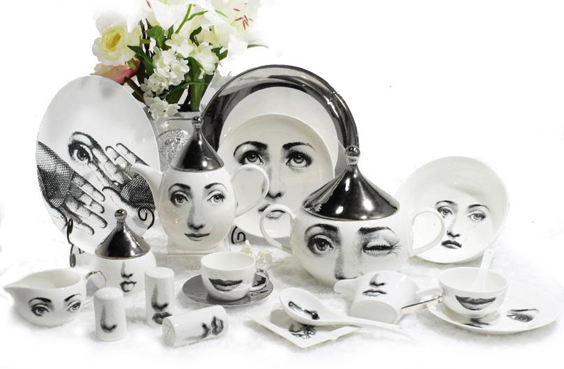 Купить Столовый сервиз Пьеро Форназетти Silver Faces в интернет магазине дизайнерской мебели и аксессуаров для дома и дачи