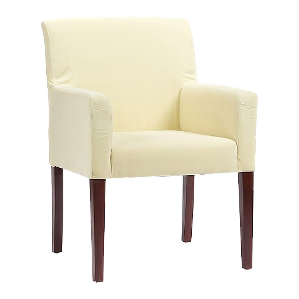Кресло Molly Молочное Велюр