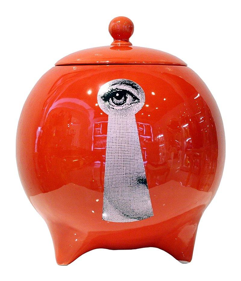 Фото Декоративная ваза с крышкой Пьеро Форназетти  La Chiave Red I. Купить с доставкой