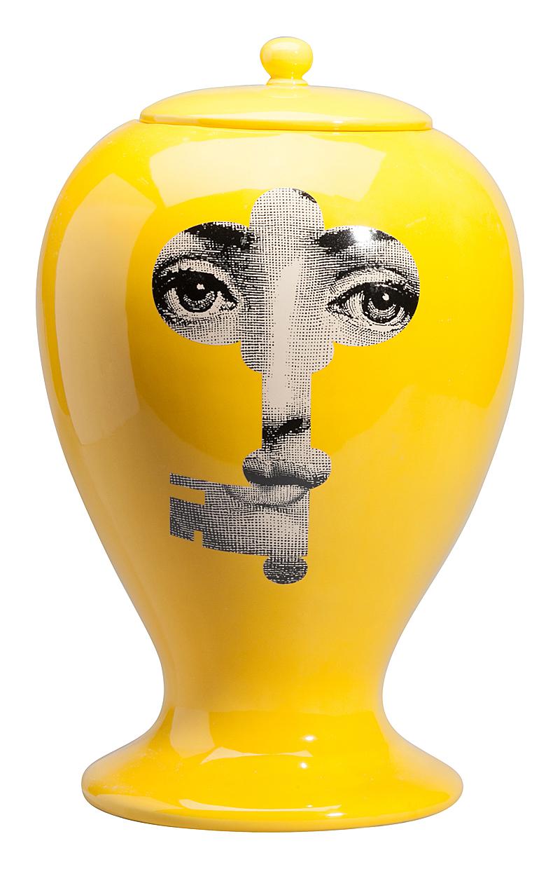 Декоративная ваза с крышкой Пьеро Форназетти Serratura Yellow I, DG-D-496