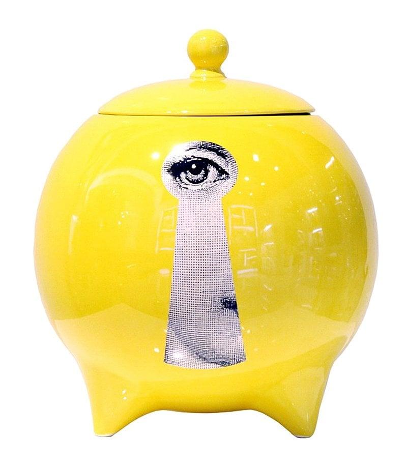 Декоративная ваза с крышкой Пьеро Форназетти La Chiave Yellow, DG-D-498
